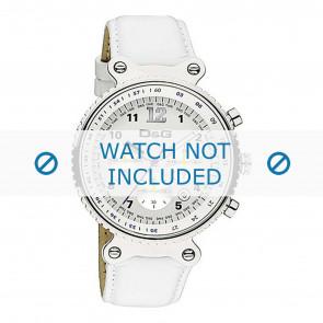 Dolce & Gabbana horlogeband DW0305 Leder Wit + wit stiksel
