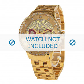 Dolce & Gabbana horlogeband DW0377 Staal Goud