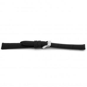 Horlogeband Universeel E015 Leder Zwart 16mm