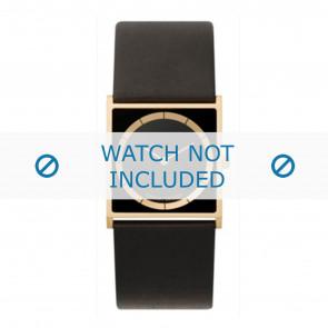 Horlogeband Danish Design IV15Q826 Leder Zwart 28mm