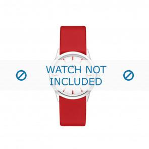 Horlogeband Danish Design IV24Q1103 Leder Rood 16mm