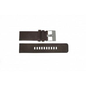 Horlogeband Diesel DZ1467 / Screw+Springbar Leder Bruin 24mm