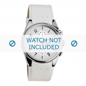 Dolce & Gabbana horlogeband 3719770084 Leder Wit 20mm + wit stiksel