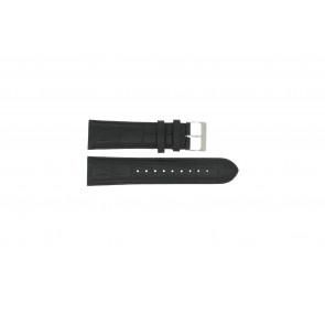 Horlogeband Esprit ES101001 Croco leder Zwart 24mm