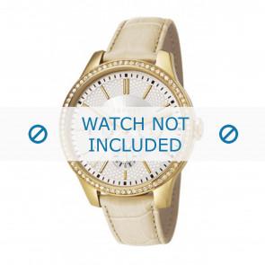 Horlogeband Esprit ES107132003-40L Leder Beige 16mm