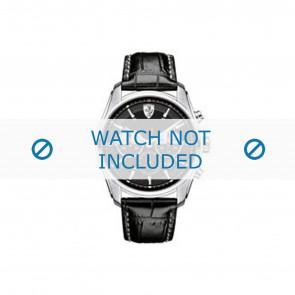 Horlogeband Ferrari SF-05-1-14-0021-689300026 Leder Zwart 22mm