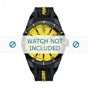 Horlogeband Ferrari SF0830246-689300183 Rubber Zwart 22mm