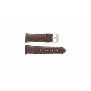Festina horlogeband F16235/5.15 Leder Bruin 28mm + wit stiksel