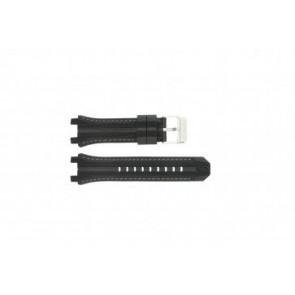 Festina horlogeband F16350/A Rubber Zwart 23mm + grijs stiksel