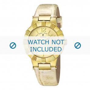Festina horlogeband F16735/2  Leder Cream wit / Beige / Ivoor
