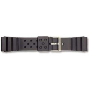 Horlogeband Universeel P70 Rubber Zwart 22mm