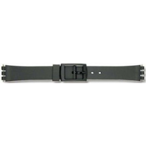 Swatch horlogeband P38 Rubber Zwart 12mm