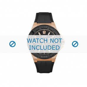 Horlogeband Guess W0674G6 Leder Zwart 19mm