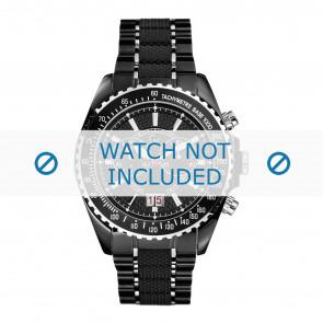 Guess horlogeband GC46001G2 Staal Zwart