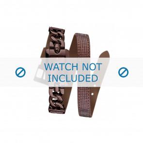 Guess horlogeband W0053L4 Leder Bordeaux