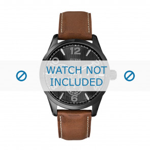 Horlogeband Guess W0493G3 / W0500G1 Leder Bruin 22mm
