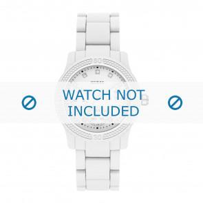 Horlogeband Guess W0944L1 / 2057177 Funfetti Kunststof/Plastic Wit 11mm