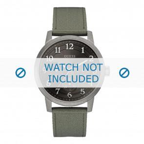 Guess horlogeband W0975G4 Textiel Groen 22mm + groen stiksel