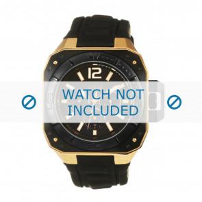 Guess horlogeband W20011G1 Leder Zwart 16mm
