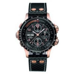 Horlogeband Hamilton H77696793 / H600.776.227 / XL Leder Zwart 22mm