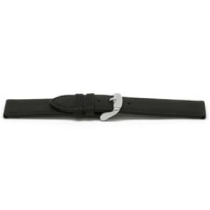 Horlogeband leder zwart 16mm EX-E129