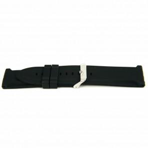 Horlogeband Rubber 26mm Zwart XJ15