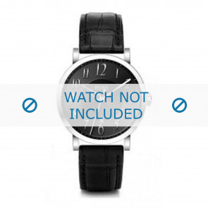 Horlogeband Hugo Boss 659302002 / HB-19-1-14-2002 / HB1512175 / HB1512176 / HB1512008 Leder Zwart 21mm