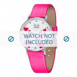 Ice Watch horlogeband 013374 Leder Roze 18mm