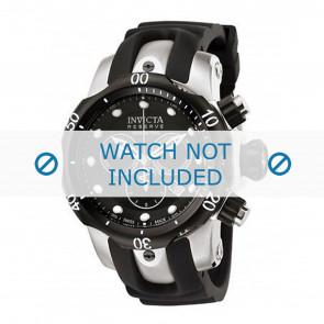 Invicta horlogeband 0947 Venom Reserve Rubber Zwart 22mm