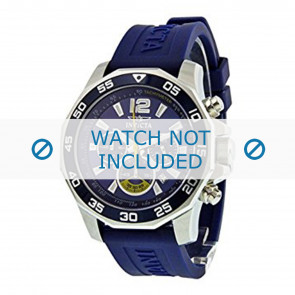 Invicta horlogeband 7431 Rubber Blauw 22mm