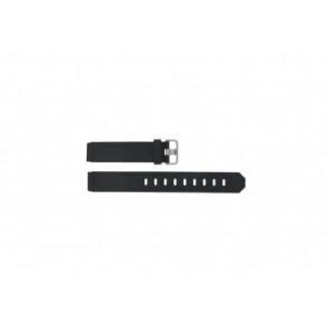 Jacob Jensen horlogeband 732 / 700 / 733 / 753 / 754 / 712 / 741 / 750 / 650 / 651 / 670 / 672 / 690 / 691 Rubber Zwart 17mm