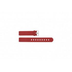 Horlogeband Jacob Jensen 751 SERIE Rubber Rood 17mm