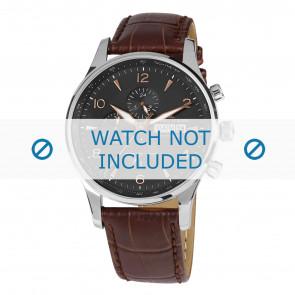 Horlogeband Jacques Lemans 1-1844D Leder Bruin 22mm