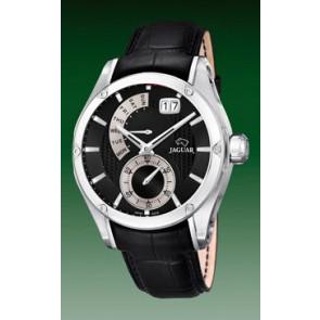 Horlogeband Jaguar J678-B Leder Zwart 22mm