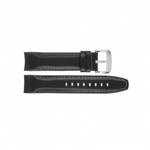 Horlogeband Jaguar J650-1 LD / J689-1 / J680-40 / 680-1 Leder Zwart 22mm