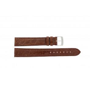 Horlogeband Morellato Amadeus XL G.Croc Gl K0518052041CR18 Krokodillenleer Bruin 18mm