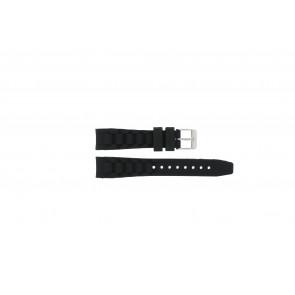 Garonne horlogeband KQ13Q419 Rubber Zwart 15mm