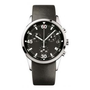 Horlogeband Calvin Klein K2227136 / K600058950 Leder Zwart