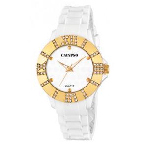 Horlogeband Calypso K5649-2 Rubber Wit