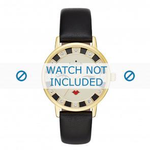 Horlogeband Kate Spade New York KSW1052 Leder Zwart 16mm