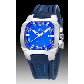 Horlogeband Lotus 15507-2 Leder Blauw 18mm