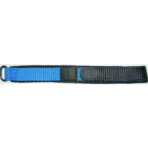Klittenband horlogeband 14mm licht blauw