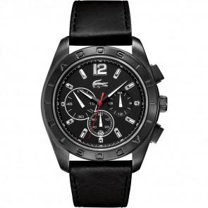 Horlogeband Lacoste 2010609 / LC-53-1-34-2302 Leder Zwart 24mm