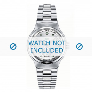 Lacoste horlogeband LC-09-3-14-0025 / 2000328 Staal Zilver