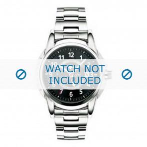 Lacoste horlogeband LC-08-1-14-0018 / 2010311 Staal Zilver