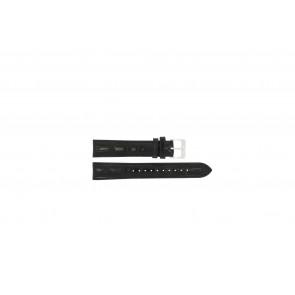 Lorus horlogeband RR033X Leder Zwart 18mm