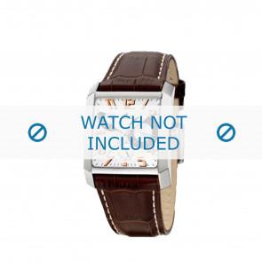 Horlogeband Lotus 15411/8 Leder Bruin 28mm