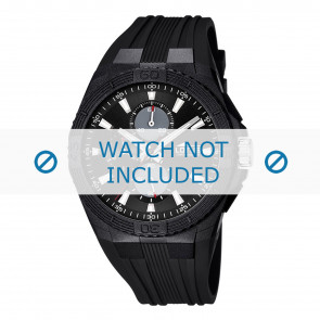 Lotus L15970/7 horlogeband zwart rubber