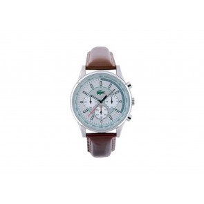 Lacoste horlogeband 2010457 / LC-21-1-14-0163 Leder Bruin 20mm + bruin stiksel