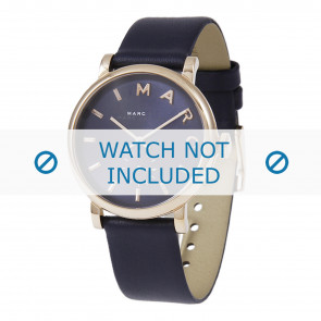 Horlogeband Marc by Marc Jacobs MBM1329 / MBM3330 / MBM1201 Leder Blauw 18mm